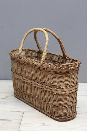 Vintage Wicker Shopping Bag