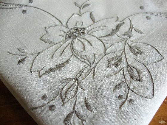 Vintage Embroidered Tablecloths