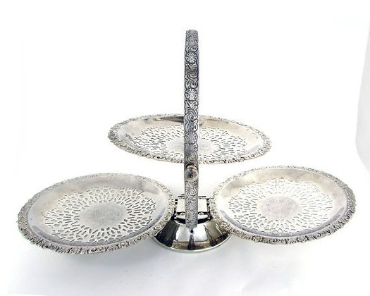 Silver Opening Cake Stand