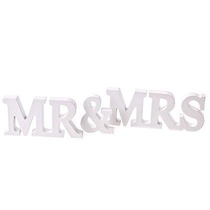 Mr & Mrs Wooden Letters
