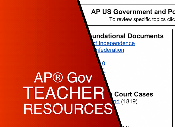 AP US Government and Politics Teacher Resources 2020