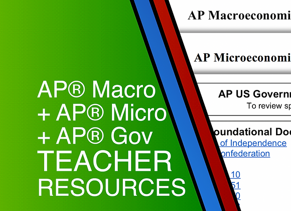 AP Macro + AP Micro + AP Gov Teacher Resources 2020