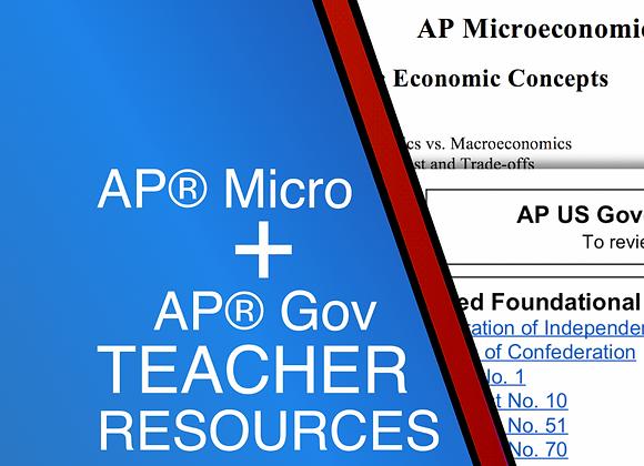 AP Micro + AP Gov Teacher Resources 2021