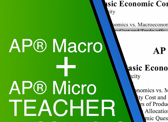 AP Macro + Micro Teacher Resources 2021