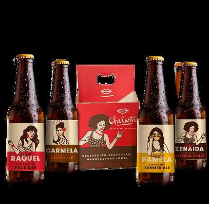 Four Pack de cervezas de coleccion Chelarte