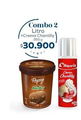 Litro + Crema Chantilly