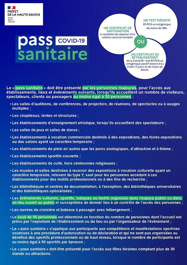 Pass sanitaire 22-07-2021