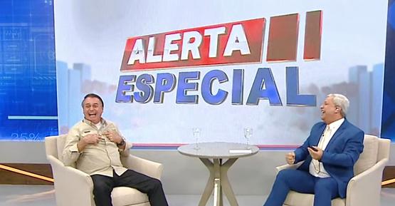 Entrevista de Bolsonaro a Sikêra triplica audiência da RedeTV!