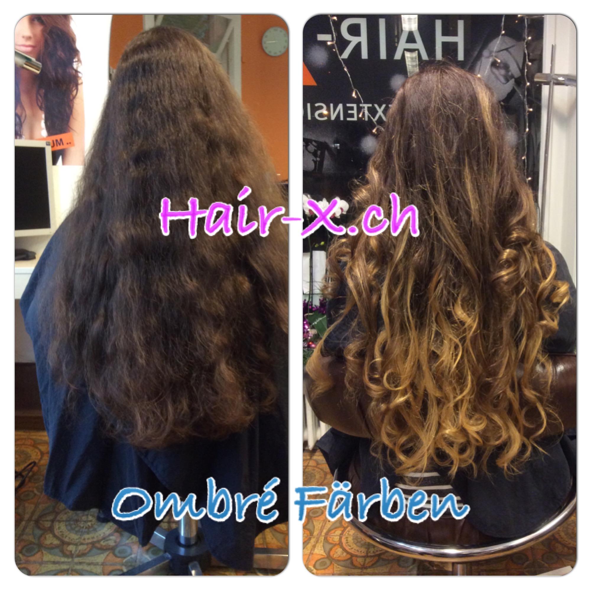 Ombre Haar Ombre Hair Look Sonnengekusstes Haar