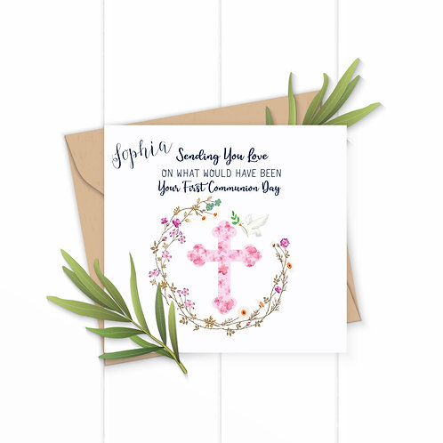 Girls First Communion Day Card