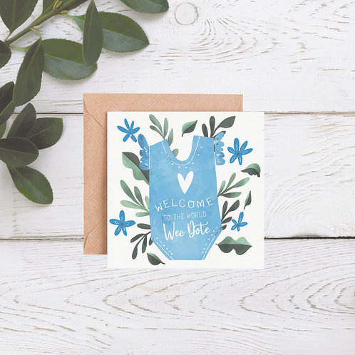 Wee Dote Baby Boy Card