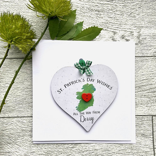 St Patricks Day Wishes Keepsake Card