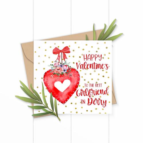 Best Girlfriend In Derry Valentines Card