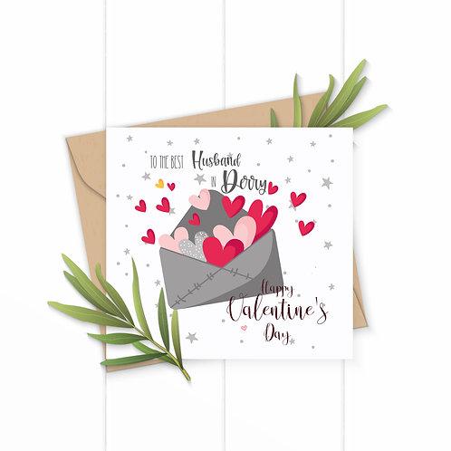 Best Husband In Derry Valentines Card