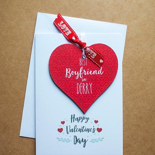 Best Boyfriend Valentine's Day Keepsake Card
