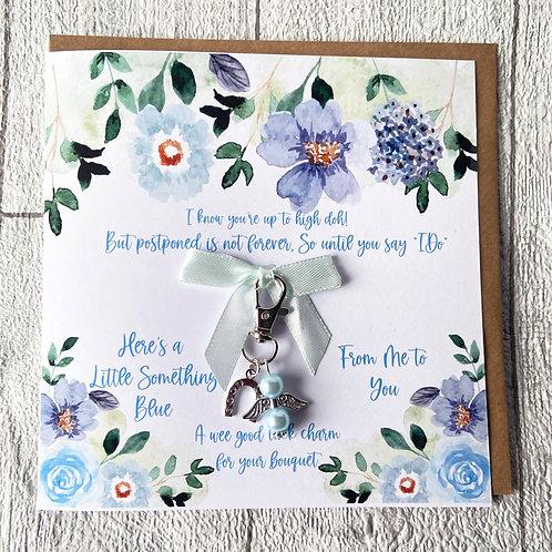 Postponed Wedding Card | Something Blue Bouquet Charm