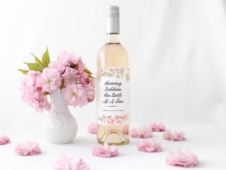 Surviving Lockdown Wine Bottle Label