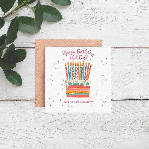 Happy Birthday Aul Doll Card