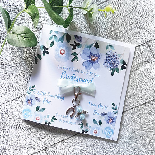 Bridesmaid Acceptance Greeting Card With Charm