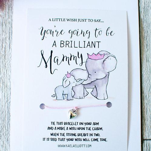 New Mammy Wish Bracelet Card