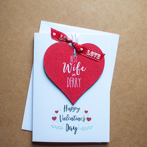 Best Wife Valentine's Keepsake Card