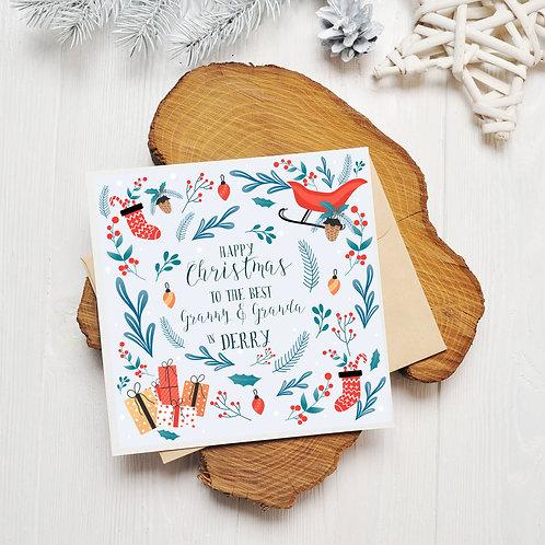 Best Granny And Granda Christmas Card