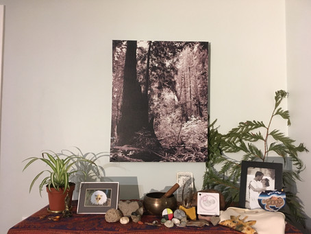 The Power of an altar ~ offering reminders, tools and focus