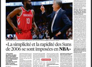 Lucas Saïdi nous parle des Suns et de leur ancien entraineur dans Libération