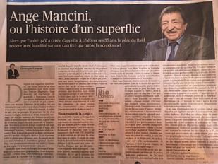 """Ange Mancini dans """"Le Figaro"""" pour la publication de l' """"Histoire du RAID illustr"""