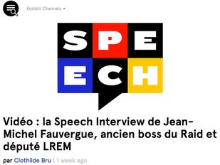 Jean-Michel Fauvergue fait son speech chez Konbini