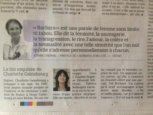 Bel article sur Charlotte Gainsbourg, L'exquise esquisse