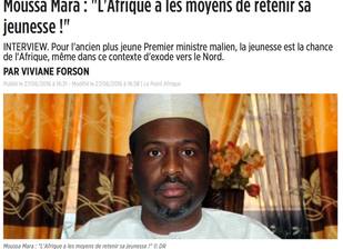 """Moussa Mara : """"L'Afrique a les moyens de retenir sa jeunesse !""""."""