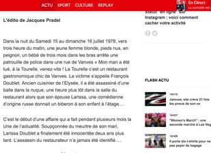 Claude Cancès invité de Jacques Pradel dans L'Heure du crime