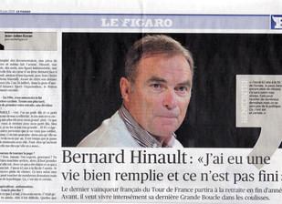 """Bernard Hinault : """"J'ai eu une vie bien remplie et ce n'est pas fini""""."""