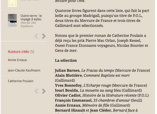 Bernard face à Hinault sélectionné par le jury du prix Médicis.