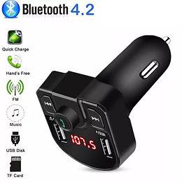 Adaptador Receptor Bluetooth Usb e Carregador para Som de Carro
