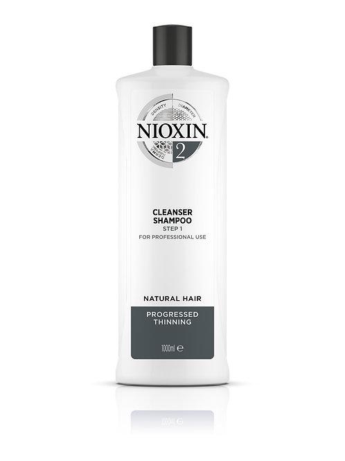 NIOXIN 2 Shampoo - Cleanser (1000ML)