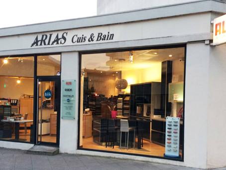 Arias Cuisines & Bains, historique magasin de cuisine à Grenoble