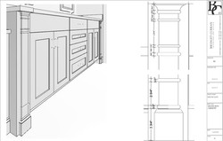 Cabinetry Details for Fabrication