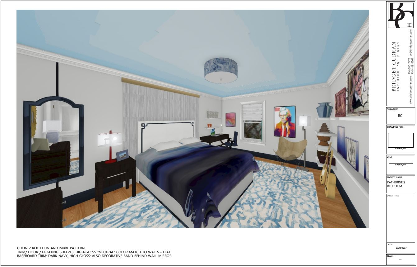 Design Concept Rendering Young Artist's Bedroom