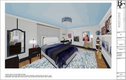Design Concept Rendering Young Artist's Bedroom