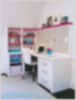 interior design transitional bedroom children's desk
