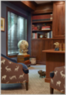 interior design transitional traditional office