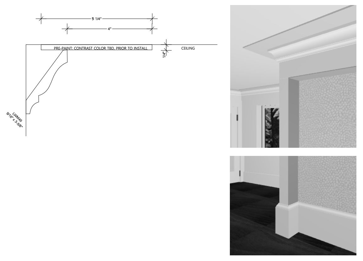 Mouldings Installation Drawings