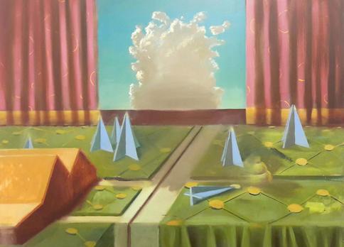 Zelle mit Wolke II, 2020