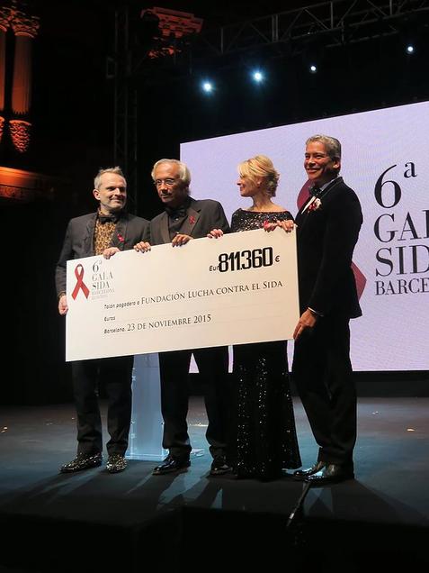 Cheque Gala Sida Barcelona 2015