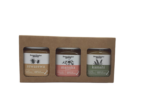 Honey gift pack, 3 x 250g jars