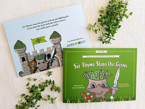Sir Thyme Slays the Germs -  a Herb World book