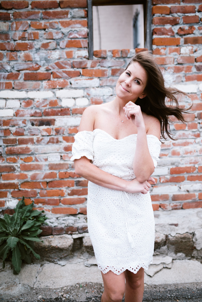 The {perfect} little white dress