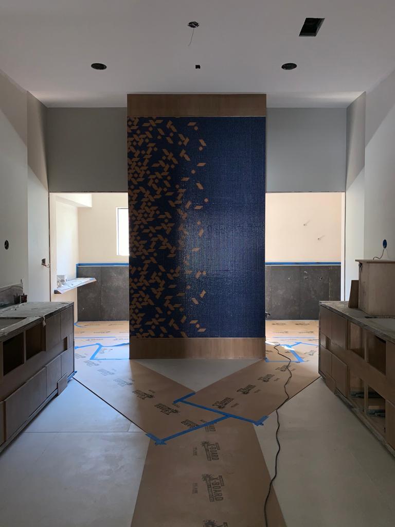 Master Bath Wall